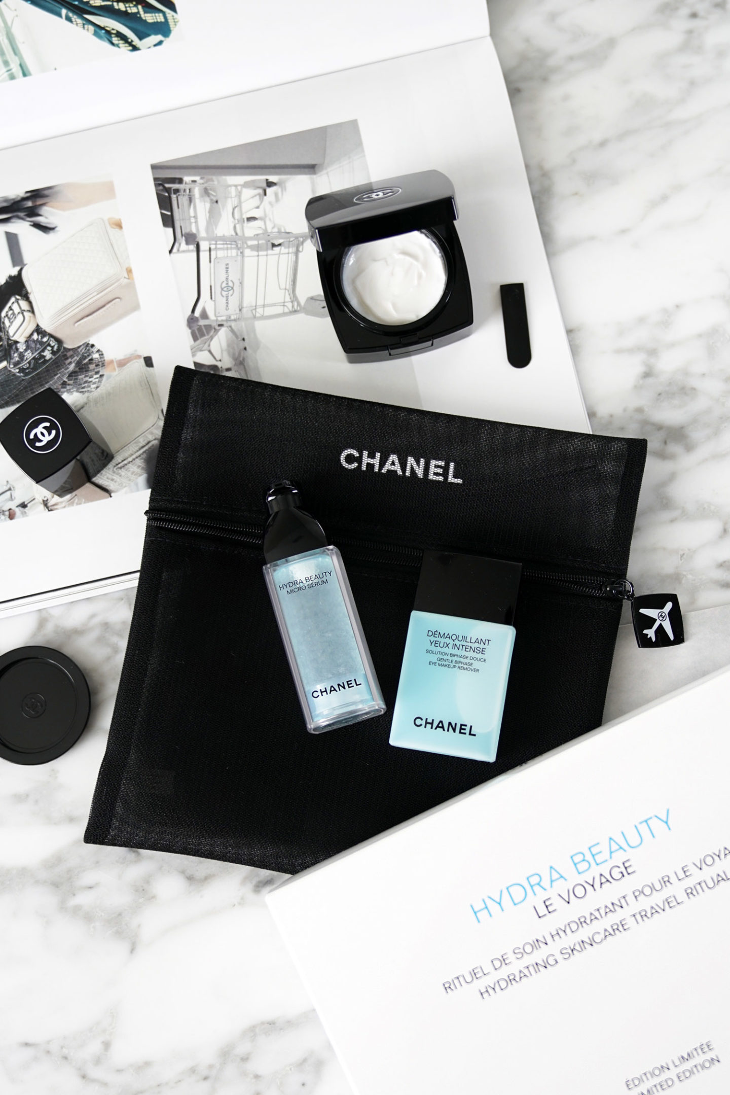 Chanel Hydra Beauty Le Voyage Set Review | Le look book beauté