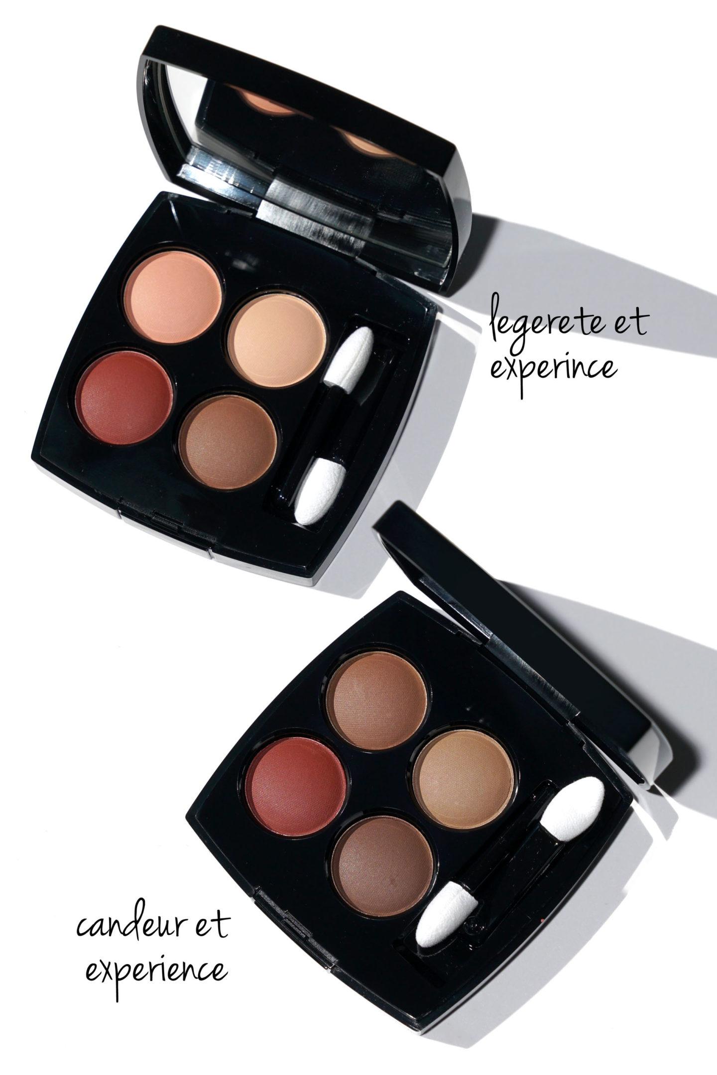 Chanel Les 4 Ombres Legetere Et Experience vs Candeur Et Experience | Le look book beauté