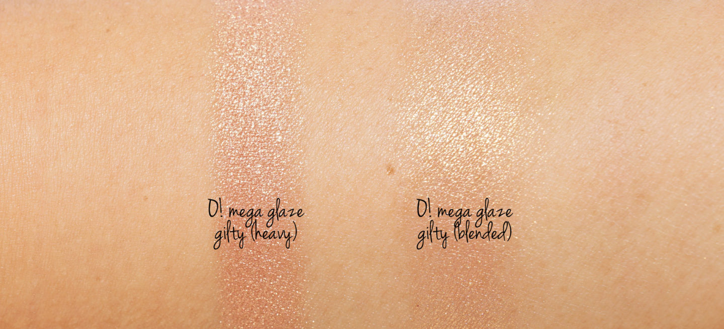 Marc Jacobs OMega Glaze All Over Fleuret Luminizer Gilty swatches Holiday 2018