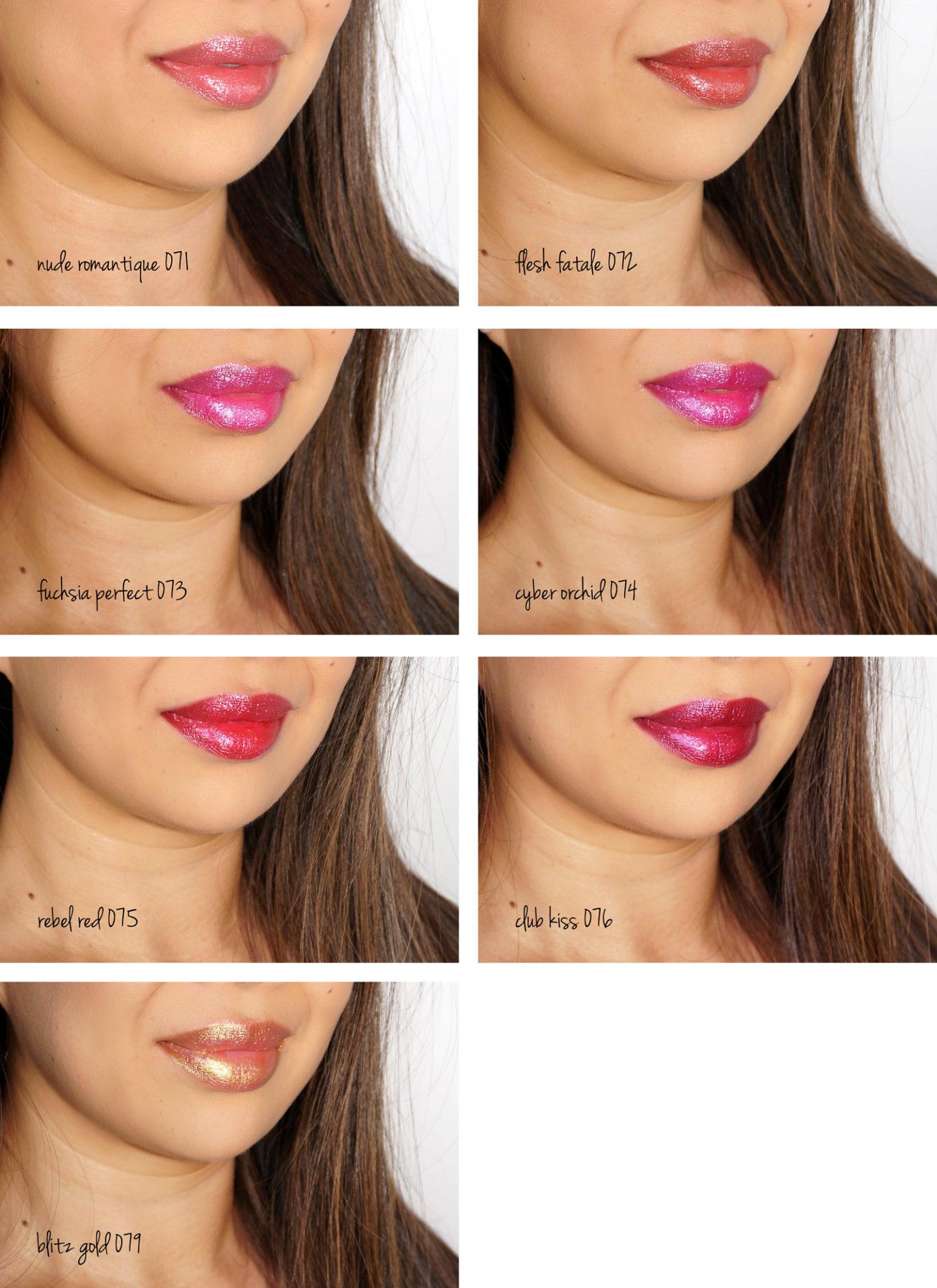 Échantillons de rouge à lèvres BlitzTrance de Pat McGrath Labs