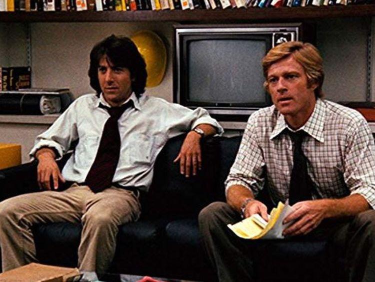Dustin Hoffman et Robert Redford ont joué dans Tous les hommes du président, scénario de William Goldman