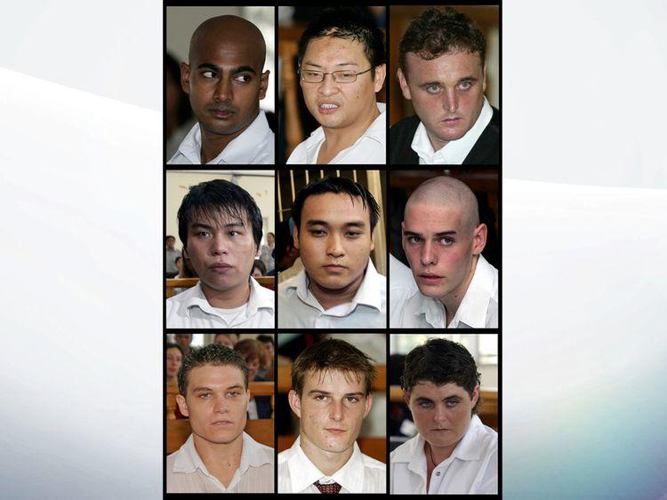 Les Bali Nine lors de leur procès à Denpasar