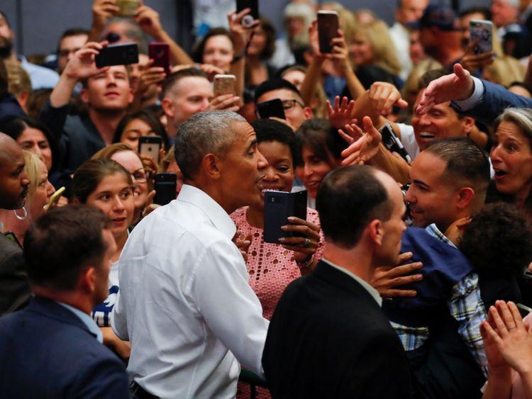 M. Obama donnait un rassemblement avant les élections de mi-mandat