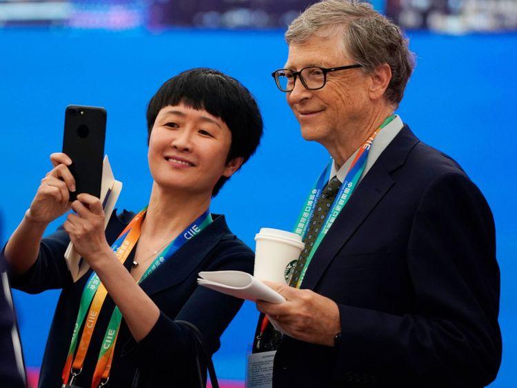 Le fondateur de Microsoft, Bill Gates, était parmi les délégués à Shanghai