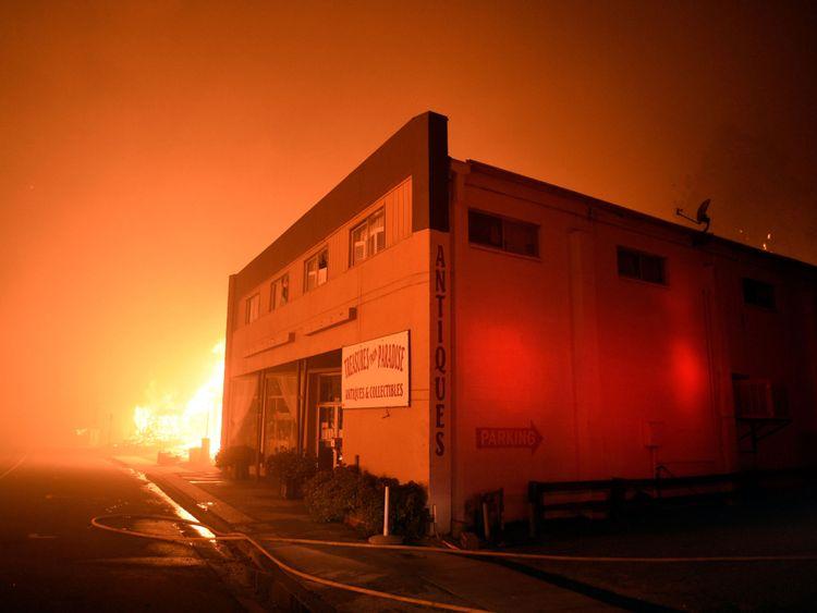 L'incendie a sévi dans la ville de Paradise jeudi
