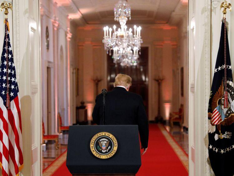M. Trump est parti après avoir peu fait pour améliorer ses relations avec les médias