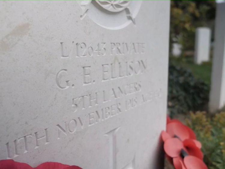 Le soldat George Ellison est le dernier soldat britannique à avoir été tué pendant la Première Guerre mondiale.