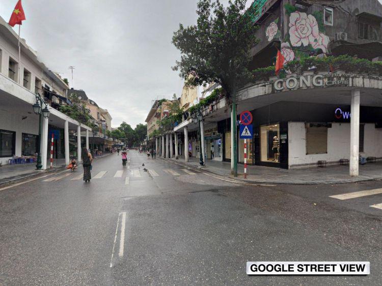 Rue Nyugen Xi dans la vieille ville de Hanoi