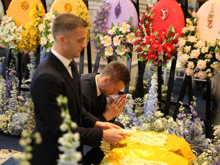 Jamie Vardy était parmi ceux qui ont assisté à la cérémonie des funérailles à Bangkok
