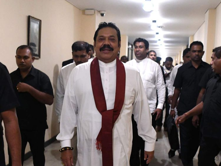 L'ancien président du Sri Lanka, Mahinda Rajapakse