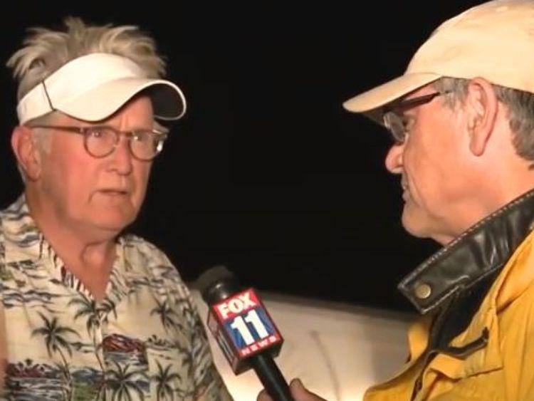 Martin Sheen s'adresse à Fox 11 et leur dit que sa famille et lui vont bien lors des incendies en Californie. Pic: Fox News 11