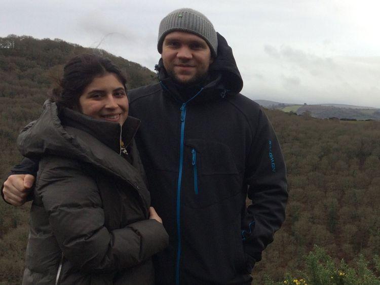 Matthew Hedges et son épouse Daniela Tejada