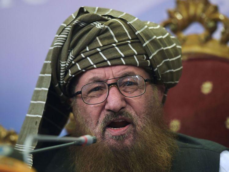 Maulana Sami ul-Haq parlant en août 2017