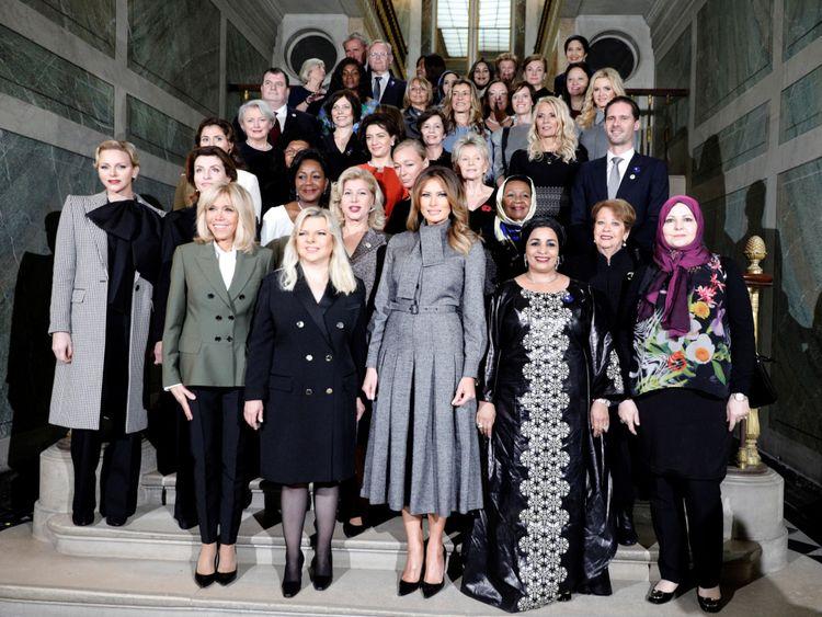 Mme Trump avec les dirigeants & # 39; partenaires à Paris la semaine dernière