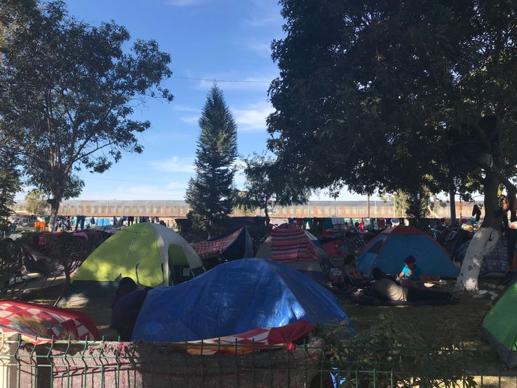camp de migrants de tijuana - ciel nouvelles pic