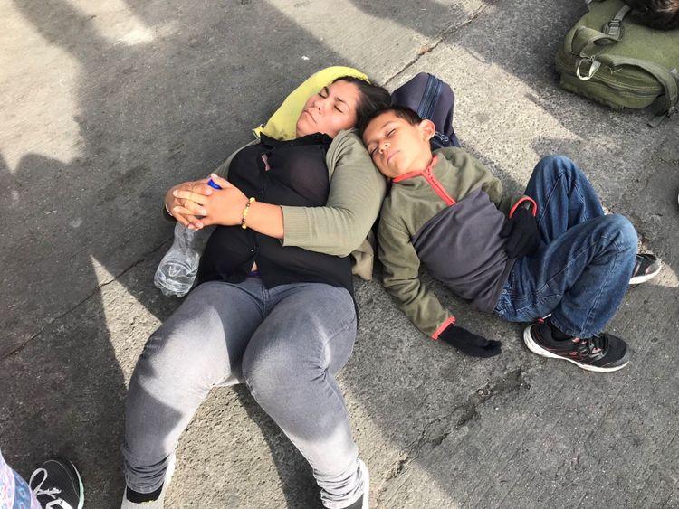 La caravane de migrants espère avoir accès aux États-Unis. Pic de Ramsay