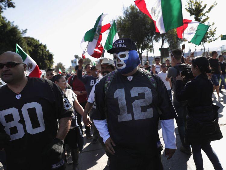 Il y a eu des manifestations contre la présence des migrants à Tijuana
