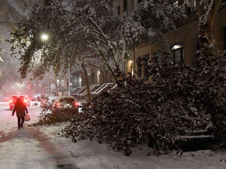 Les New-Yorkais ont été avertis que le temps pourrait se révéler dangereux