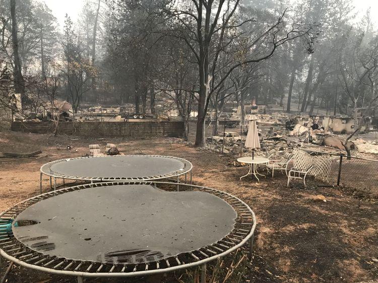 Des propriétés entières ont été réduites en ruines