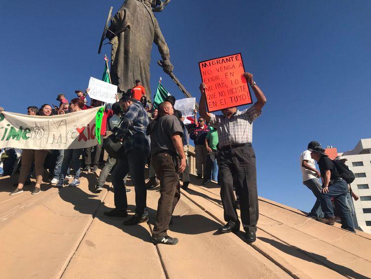 Tijuana proteste - migrants mexicains - nouvelles du ciel