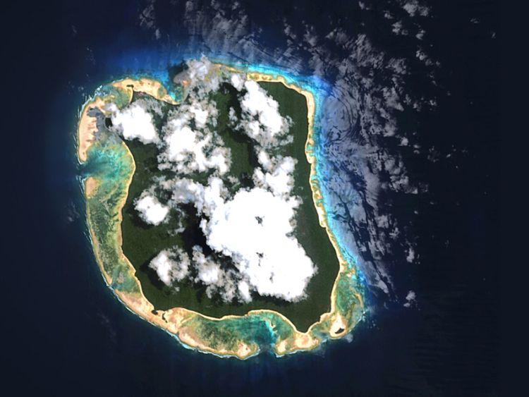 North Sentinel Island, la maison des Sentinelles, vue d'en haut. Pic: © Survival