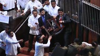 Combat au parlement sri lankais