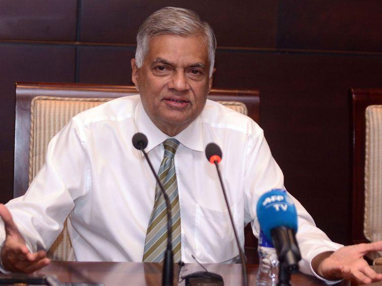 Le Premier ministre sri-lankais évincé, Ranil Wickremesinghe