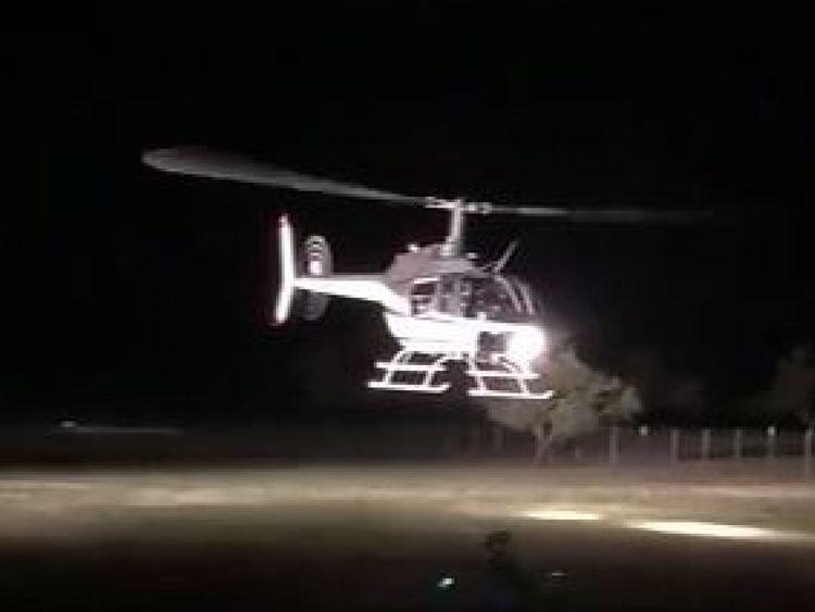 L'hélicoptère a décollé du ranch où le mariage avait eu lieu. Pic: ABC