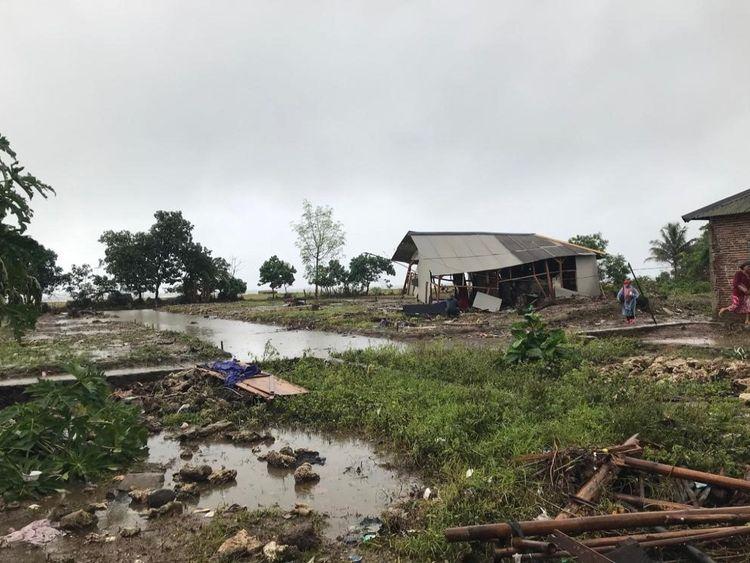 Le village côtier de Tiluk a été décimé