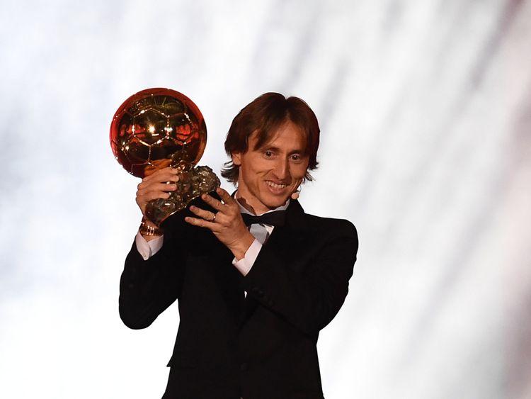Luka Modric a remporté le trophée masculin