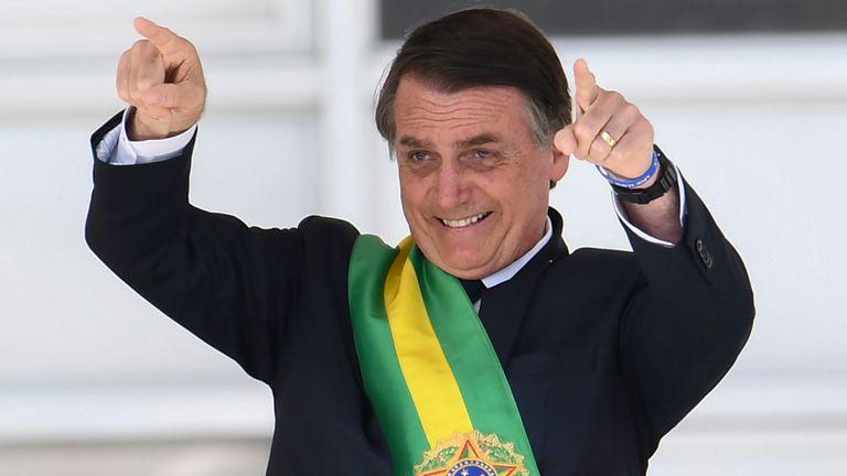 Le nouveau président brésilien Jair Bolsonaro