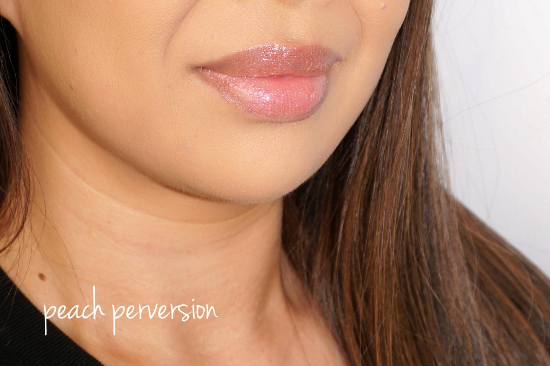 Pat McGrath LUST Gloss swatch Perversion Peach via The Beauty Look Book