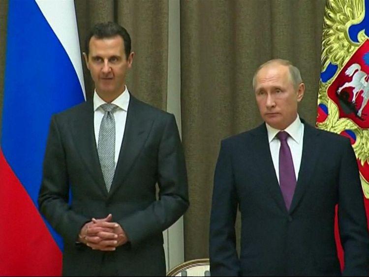 Le secrétaire aux Affaires étrangères a déclaré que le soutien de la Russie au régime syrien rendrait improbable un changement.