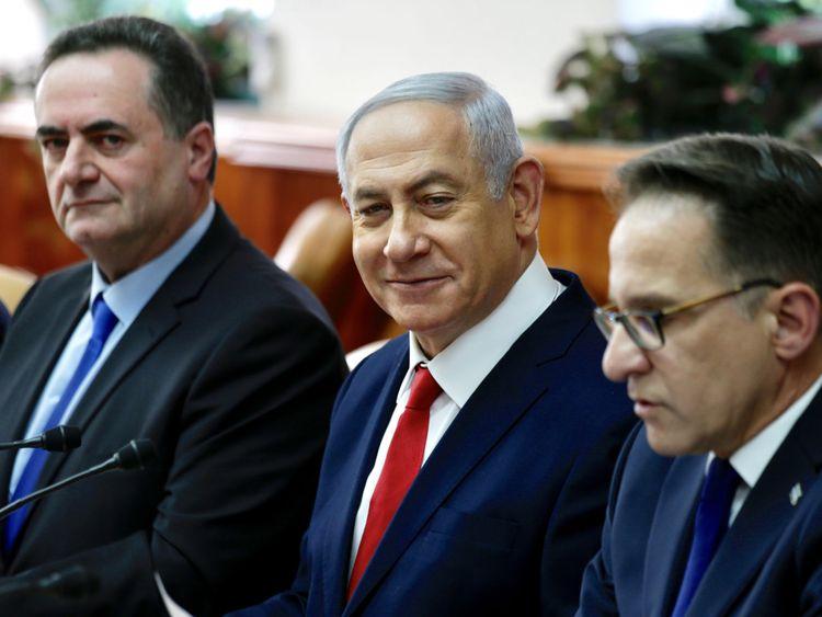 Le Premier ministre Benjamin Netanyahu assiste à la réunion hebdomadaire de son cabinet