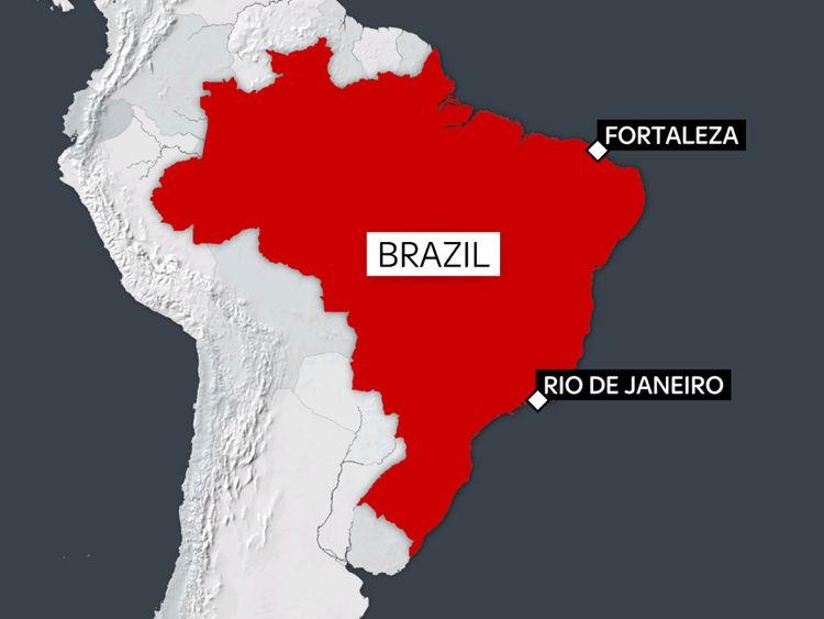 Fortaleza est sur la côte nord-est du Brésil