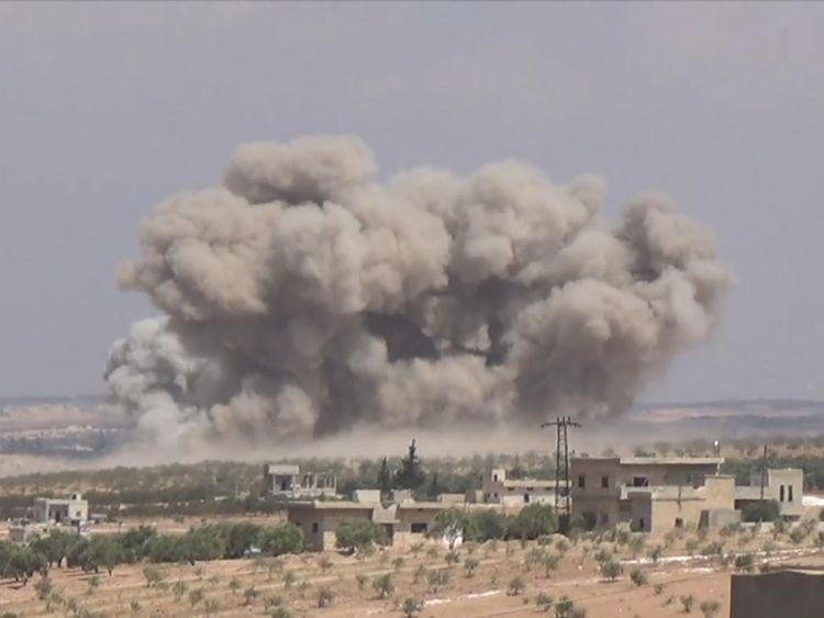 Frappes aériennes sur le sud d'Idlib