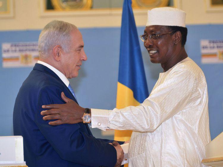 Le président tchadien Idriss Deby Itno a reçu dimanche le Premier ministre israélien Benjamin Netanyahu