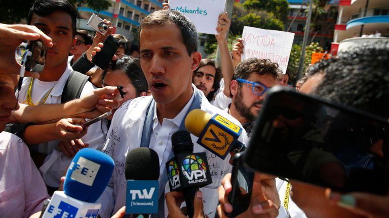Le chef de l'opposition vénézuélienne et président autoproclamé par intérim, Juan Guaido