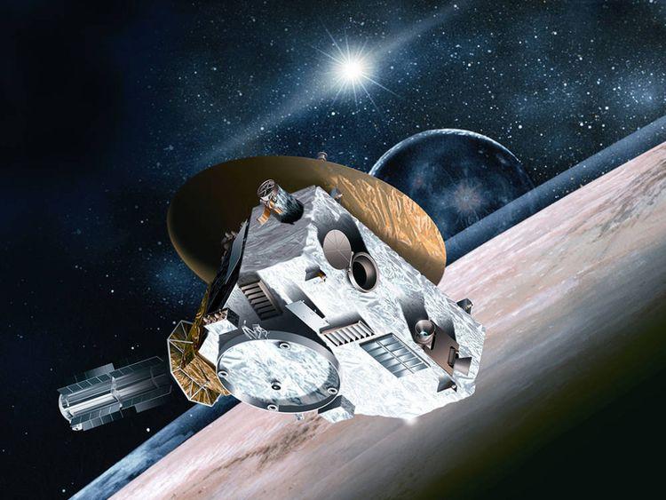 Illustration artistique de New Horizons survolé de Pluton il y a quelques années. Pic: NASA