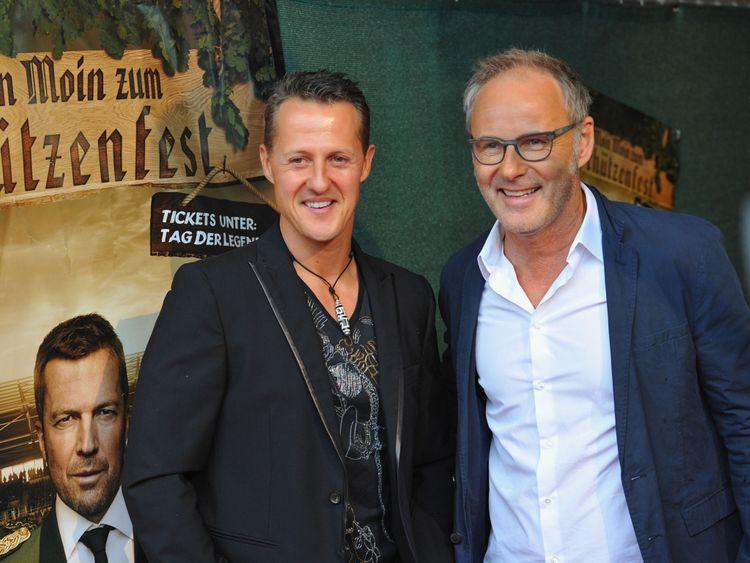 Schumacher à l'une de ses dernières apparitions publiques en 2013 avant l'accident
