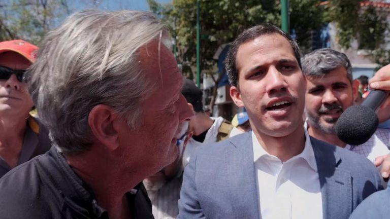 Sky, Stuart Ramsay, s'entretient avec Juan Guaido, chef de l'opposition au Venezuela et président autoproclamé par intérim