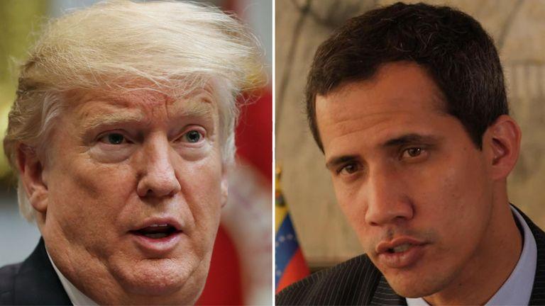 Le président Trump a été appelé dans le cadre du processus de maintien du contact. avec M. Guaido