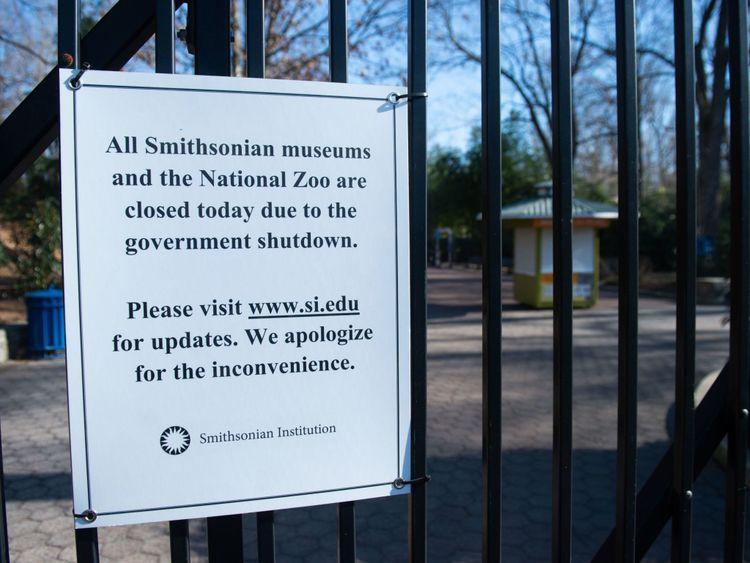Smithsonian National Zoo est fermé à cause de l'arrêt