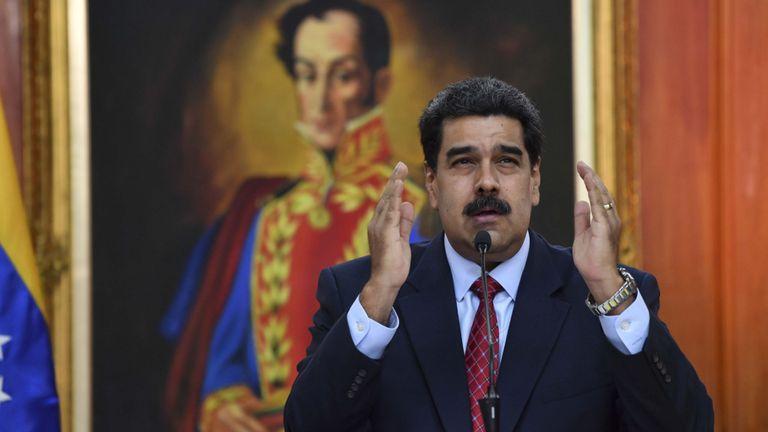 Président vénézuélien Nicolas Maduro