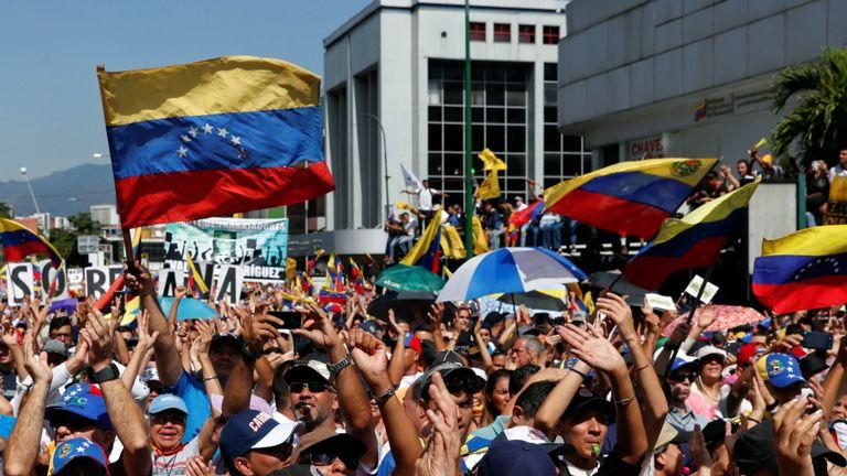 M. Maduro a déclaré que les manifestations faisaient partie d'une tentative de coup d'État menée par les Etats-Unis