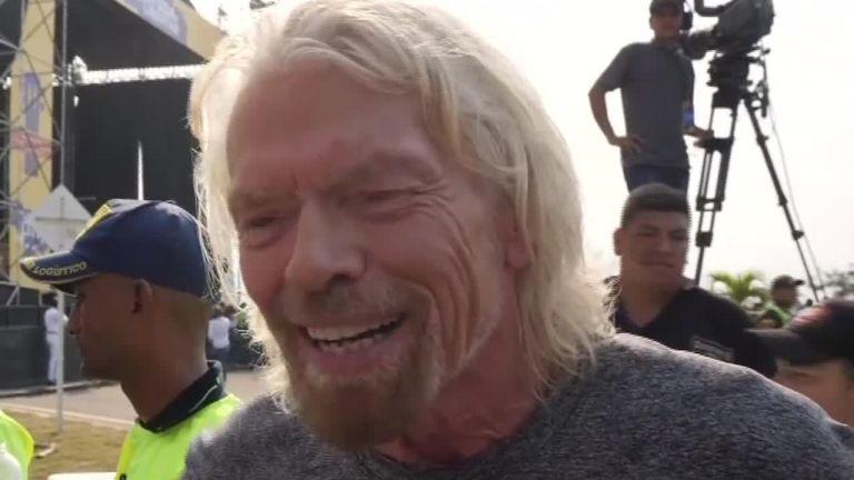 Sir Richard Branson parle à Sky News