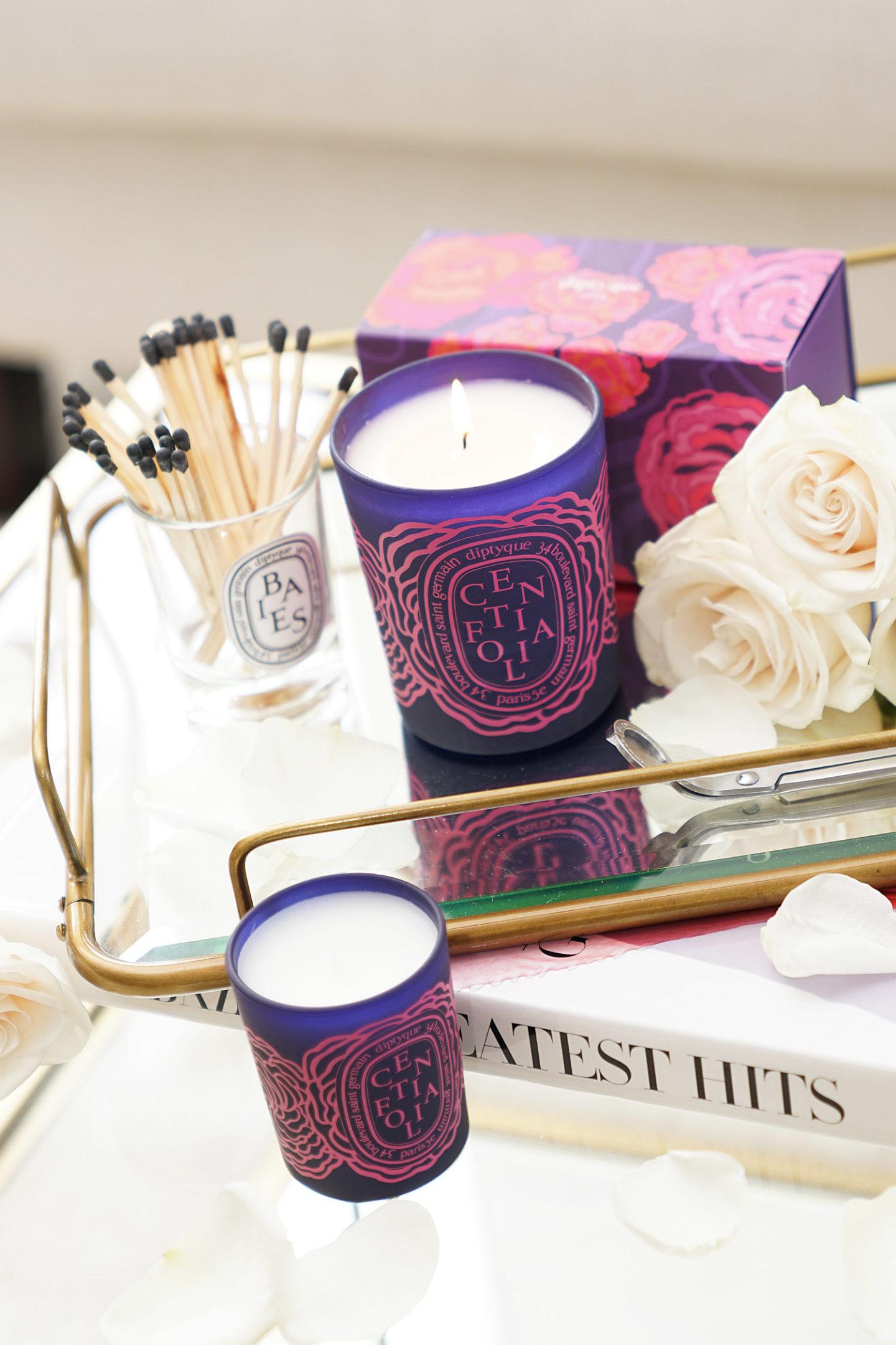 The Beauty Look Book Bougies Roses Diptyque pour la Saint-Valentin Revue Centifolia