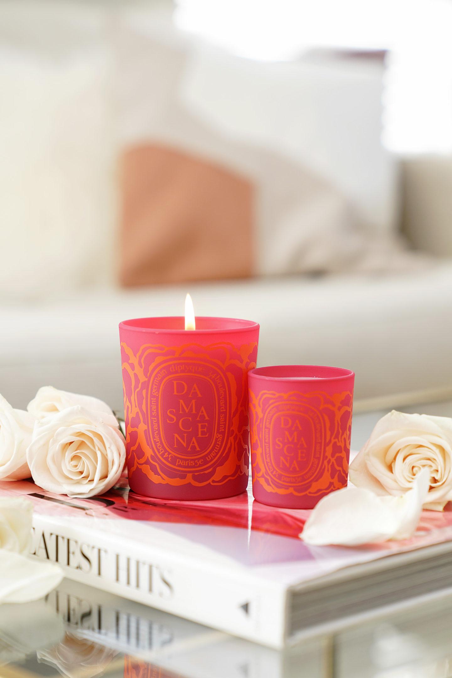 La beauté regarde le livre Diptyque Saint Valentin Bougie Roses Damascena Review
