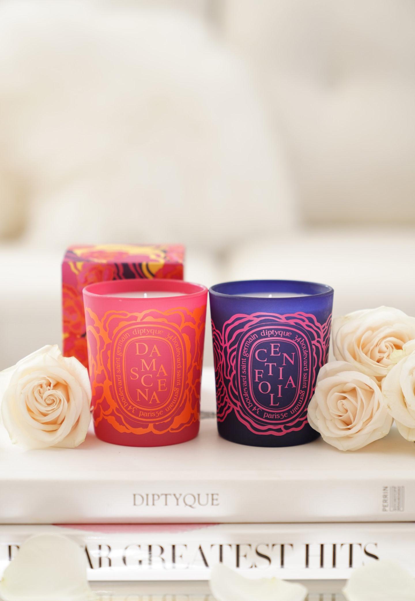 Bougies Diptyque Roses Revue de Centifolia et Damascena par l'intermédiaire du The Beauty Look Book