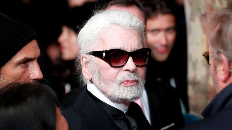 Le designer allemand Karl Lagerfeld